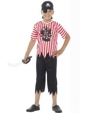 Boys Pirate Fancy Dress Book Week Costume Front Image