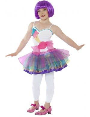 Girl's Katy Perry Pop Star Candy Costume Front View