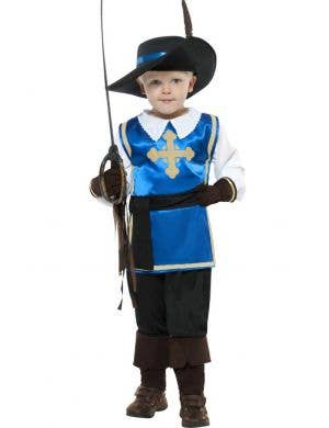 Boy's Musketeer French Swordsman Costume Front View