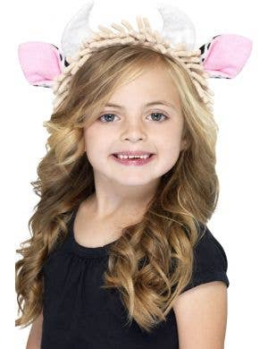 Kids Cow Ears and Horns on Headband Costume Accessory