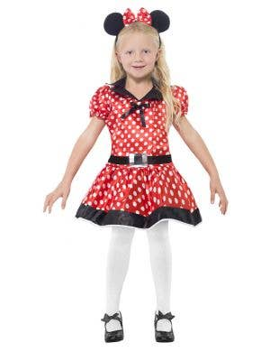 Girls Minnie Mouse Fancy Dress Costume Front View