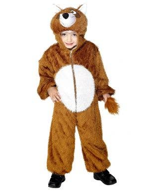 Kids Fox Onesie Fancy Dress Costume Front View