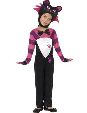 Girl's Cheshire Cat Animal Costume Front View