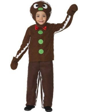 Kid's Gingerbread Man Christmas Costume Front View