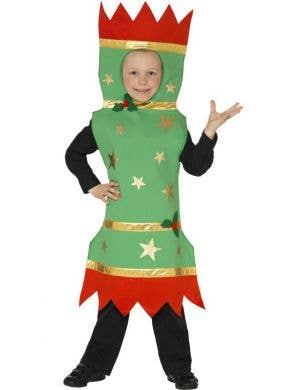 Christmas Bon Bon Boy's Festive Cracker Costume Front View