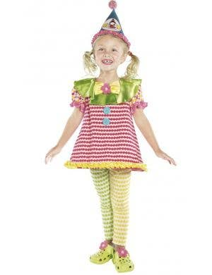 Girl's Circus Clown Fancy Dress Costume Front View