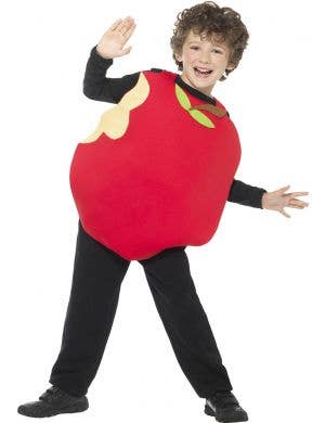 Kids Red Apple Book Week Fruit Costume Front Image