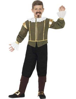 Old English Elizabethan Boy's Shakespeare Costume Front View