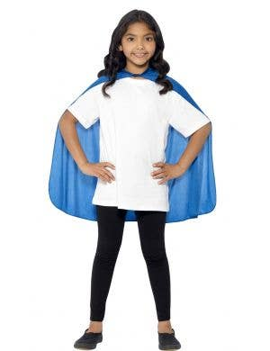 Basic Blue Costume Accessory Cape for Kids Main Image