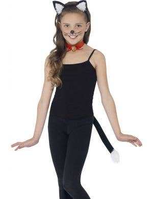 Girls Black Cat Costume Accessory Set Main Image
