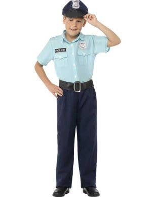 Classic Police Officer Boys Fancy Dress Costume Main Image