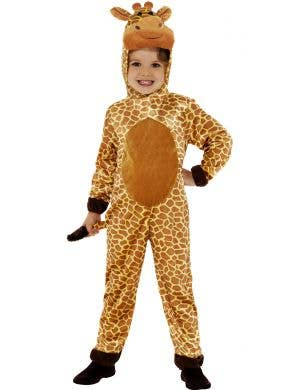 Kids Giraffe Animal Onesie Book Week Fancy Dress Costume Front