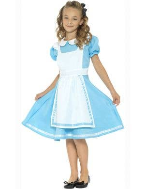 Girls Classic Alice in Wonderland Book Week Costume Front View