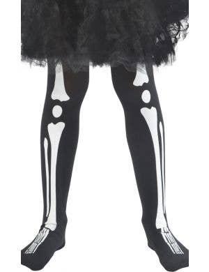 Skeleton Legs Kids Halloween Costume Tights