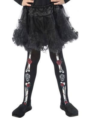 Day of the Dead Halloween Girl's Skeleton Stockings