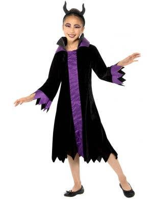 Evil Queen Girls Black Halloween Costume