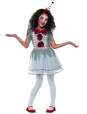 Vintage Creepy Clown Girls Halloween Costume