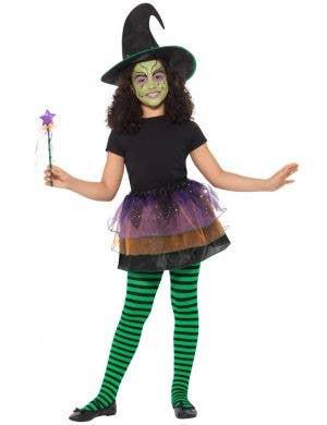 Pretty Witch Girls Halloween Costume Kit