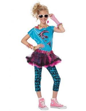 Teen Girls 1980's Rock Chick Costume Main Image