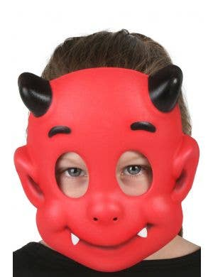 Red Devil Kids Halloween Costume Mask