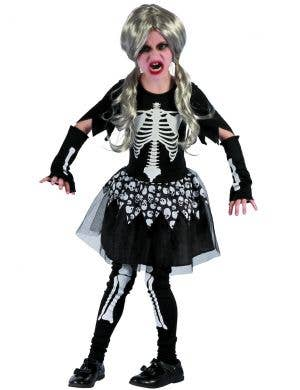 Spooky Skeleton Girls Halloween Costume