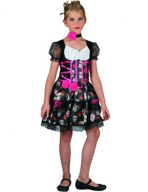 Pretty Day of the Dead Girl's Halloween Costume