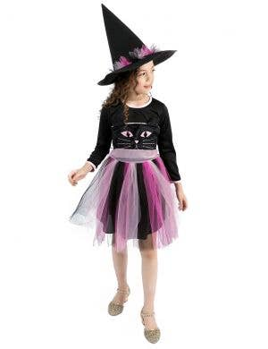 Kitty Witch Girls Pink Halloween Costume