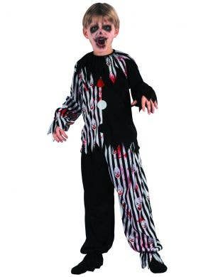 Blood Splattered Creepy Clown Boys Halloween Costume