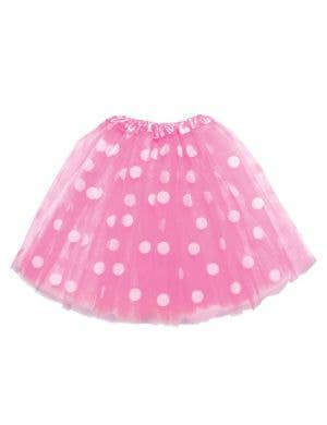Polka Dot Pink and White Girl's Costume Tutu