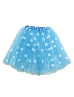 Polka Dot Girl's Blue and White Organza Costume Tutu