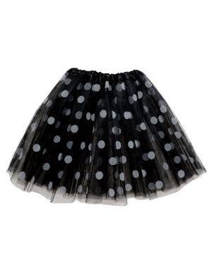Polka Dot Girl's Black and White Organza Costume Tutu