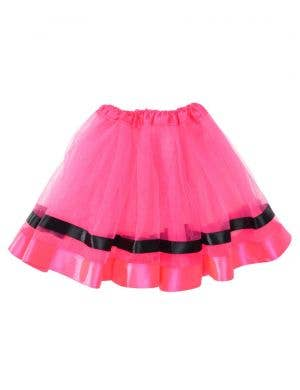 Hot Pink Girl's Costume Tutu with Ribbon