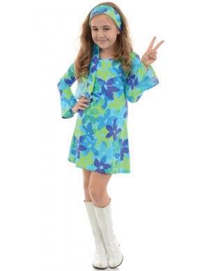 Harmony Girls 60's Hippie Fancy Dress Costume