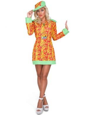 Groovy Women's 1960's Orange Hippie Costume