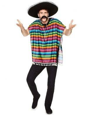 Rainbow Men's Wild West Mexican Costume Poncho