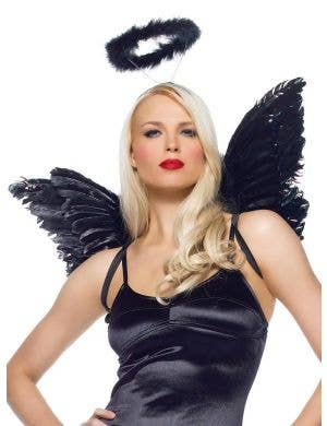 Fallen Angel Women's Halo And Wings Accessory Set Main