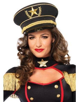 Deluxe Women's Leg Avenue Military Costume Hat