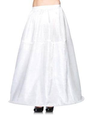 Full Length Women's Hooped White Costume Petticoat