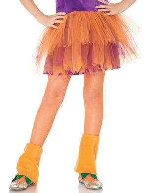 Neon Orange Kids Novelty Costume Stockings