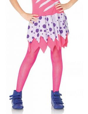 Neon Pink Kids Costume Stockings by Leg Avenue