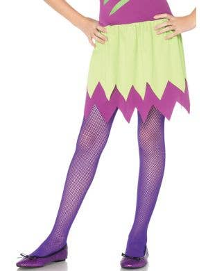 Purple Kids Fishnet Costume Tights by Leg Avenue