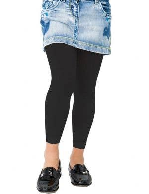 Girls Black Halloween Costume Leggings