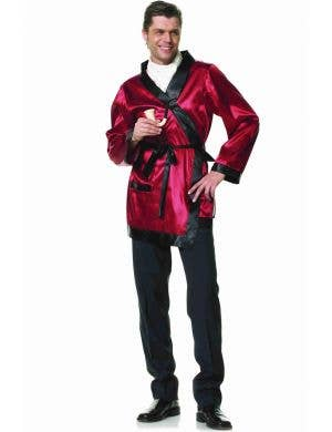 Playboy Hugh Hefner Men's Smoking Jacket Costume