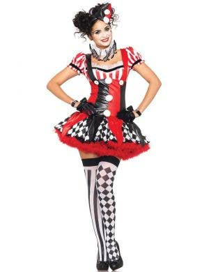 Sexy Harlequin Women's Ciurcus Costume Front View