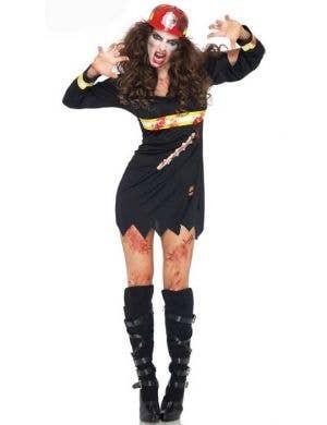 Undead Fire Starter Women's Halloween Zombie Costume
