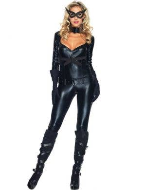 Sexy Women's Backless Catwoman Superhero Costume Main