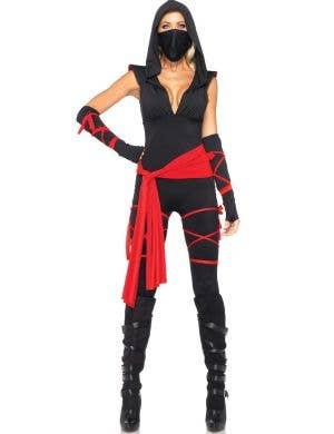 Sexy Ninja Deluxe Women's Halloween Costume Front View