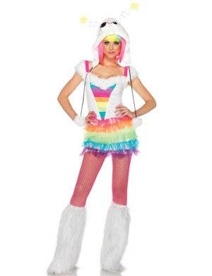 Rainbow Monster Sexy Women's Fancy Dress Costume Main