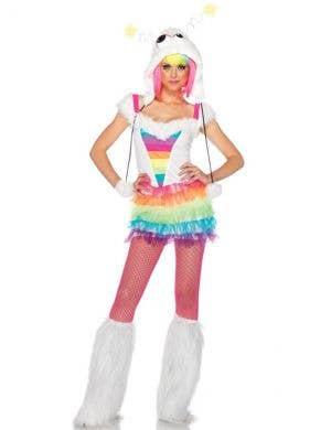 Rainbow Monster Sexy Women's Fancy Dress Costume Main