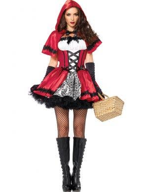 Women's Dark Red Riding Hood Sexy Costume Main View